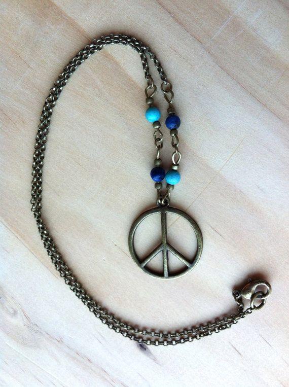 Signe de la paix avec Turquoise & Collier par KarissasCreations11