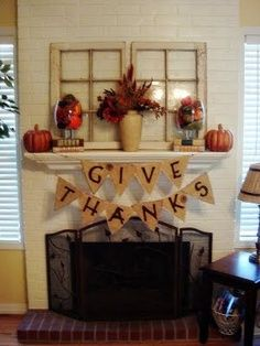 thanksgiving mantles | Thanksgiving Banner