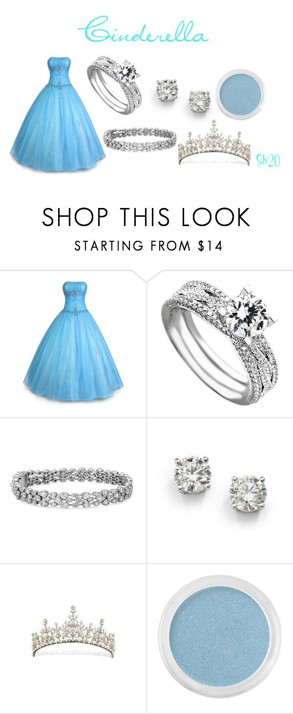"""Cinderella Ball Gown"" by silvermist20 ❤ liked on Polyvore featuring PacificPlex, Blue Nile, Saks Fifth Avenue and Bare Escentuals"