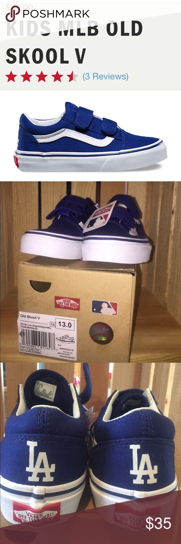 NWT kids MLB vans Collectors Addition MLB dodgers vans.   Kids size 13     New never worn. In box.   From a smoke and animal free home. Vans Shoes Sneakers