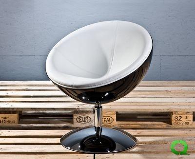 Lounge Sessel COSMOS Schwarz Weiss Http://qubo Design.de