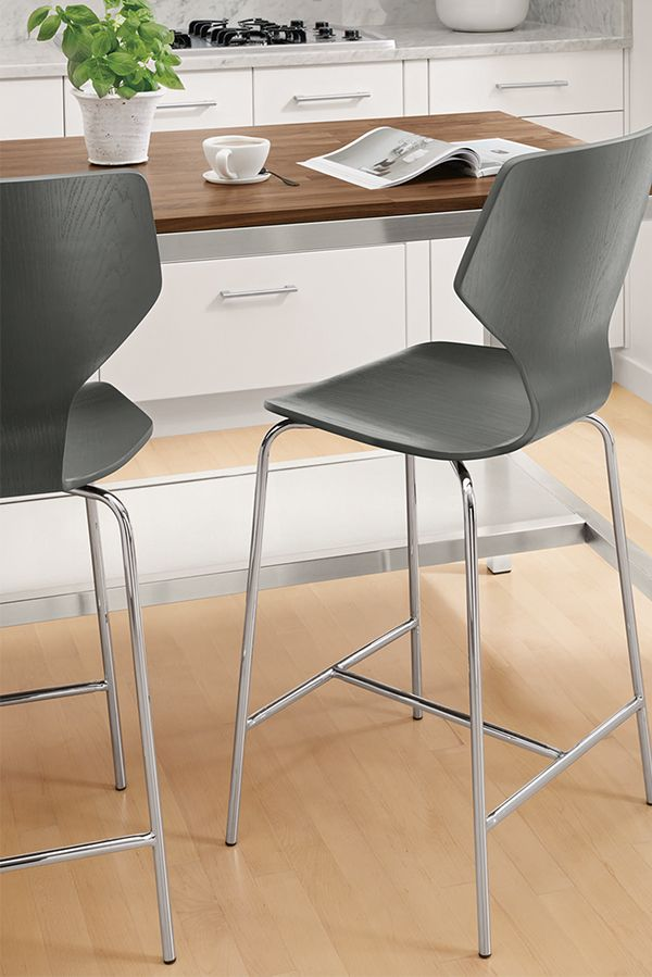 Room Board Pike Synthetic Leather Stools Modern Counter