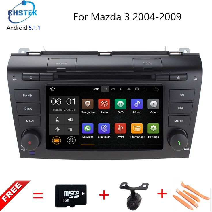 HD 1024*600 Quad Core 16G 7'' Pure Android 5.1.1 Car DVD Player for MAZDA 3 2004-2009 GPS Navigation Newest Radio +Free 8g maps