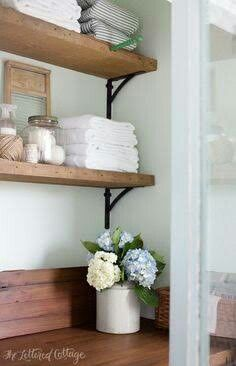 Timber shelving and benchtop/splashback ~ laundry