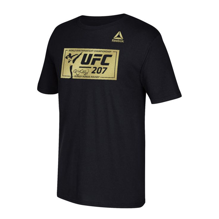 Ronda Rousey Reebok UFC 207 Box T-Shirt - Black