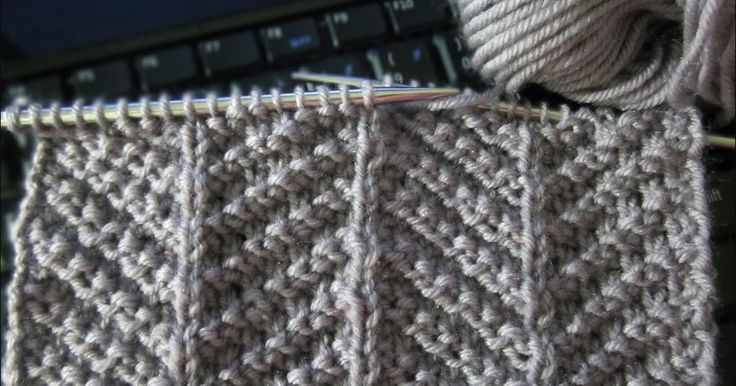 Only knit (K) and purl (P) stitches are used to make up this herringbone texture knitting stitch and isn't too tricky for beginners, li...