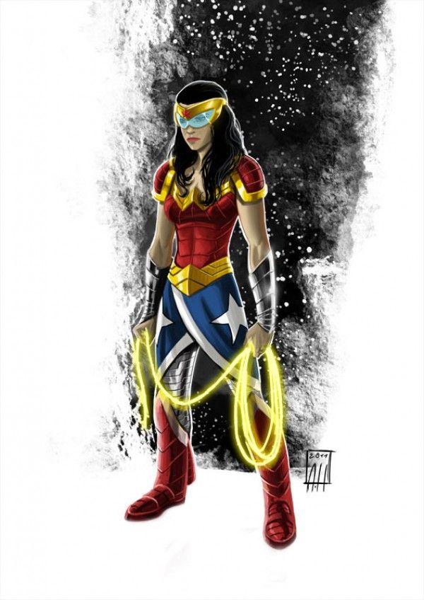 Minus the visor, this is a cool redesign.: Spaces, Woman Redesign, Dc Comics, Art, Comic Book, Wonder Woman, Wonderwoman Space Amazon, Albert Hulm, Superheroes Comics