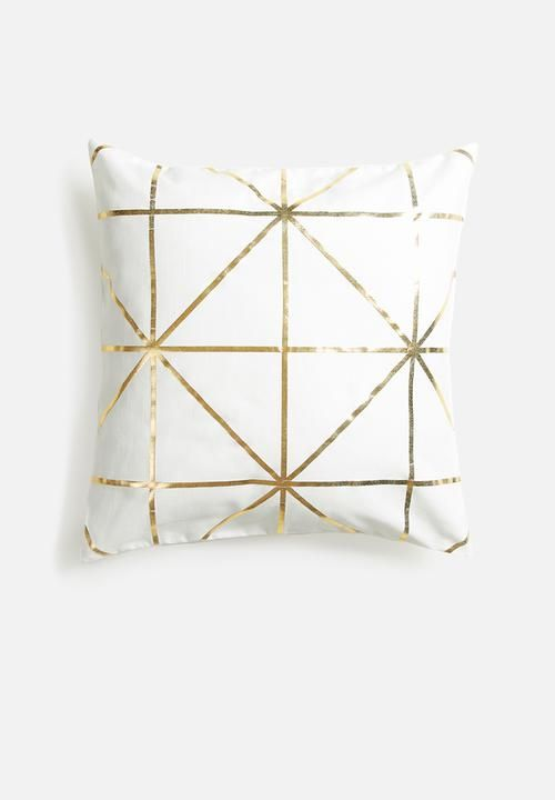Diamond foil cushion cover - white Sixth Floor Scatter | Superbalist.com