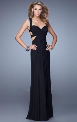 Sexy A- Line black prom dresses online UK-mariepromdress.co.uk