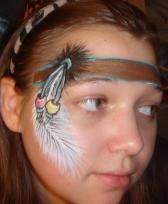 schmink indiaan; facepainting indian