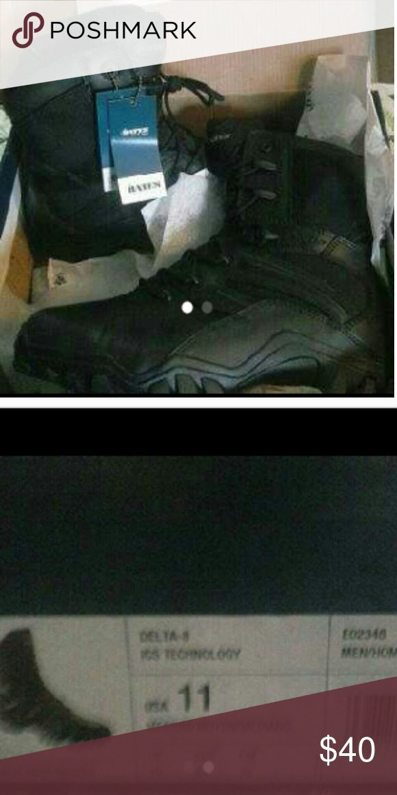 Men's work boots New in box, black work boots size 11, Shoes Rain & Snow Boots