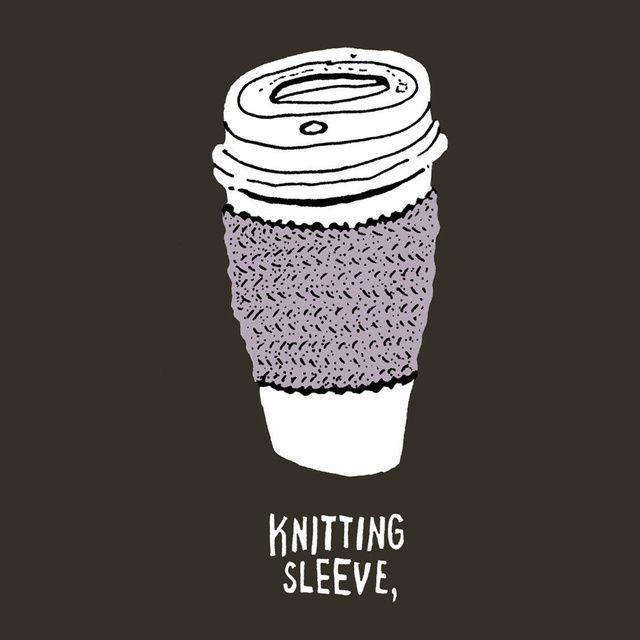 KNITTING SLEEVE.