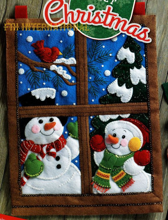 Bucilla Winter Window  Felt Christmas Wall Hanging Kit 86732