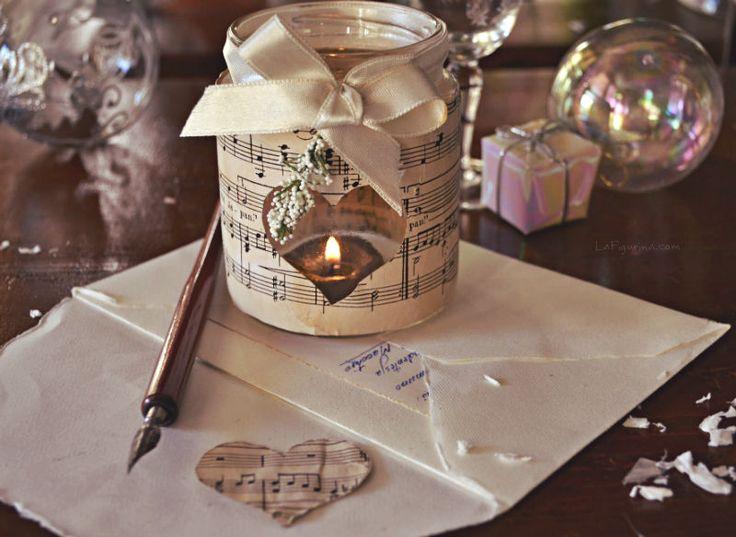 Addobbi natalizi con note musicali lanterna barattolo for Obi addobbi natalizi