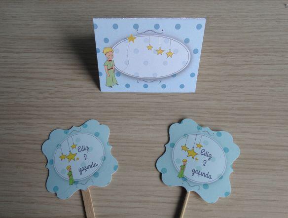 küçük prens ayraç , küçük prens masa kartı, cake topper