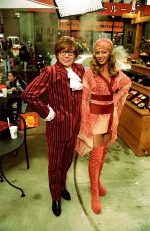 Mike Myers and Beyonce.