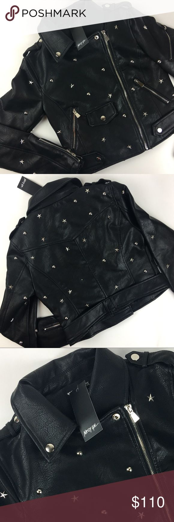 NWT Nasty Gal Studded Leather Jacket Nasty Gal Studded Jacket  Size: Small Color: Black  Retail tags attached  ❌no holds ❌no trades (C) Nasty Gal Jackets & Coats