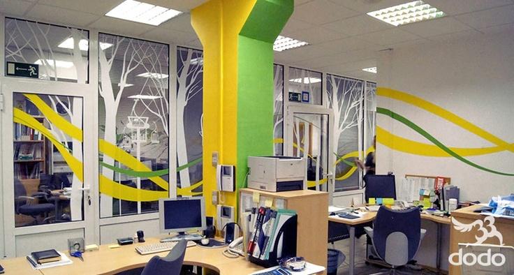 Декор офиса компании Фишер студией 33dodo http://33dodo.ru/portfolio.php?id=2