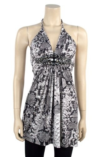 Sky Clothing Snakeskin Print Halter Dress « Dress Adds Everyday