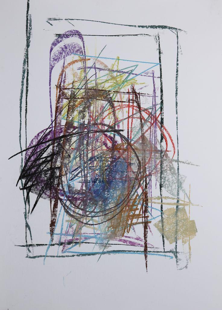 Michael Třeštík, Chaos, No. 18, 2016, pastel A1