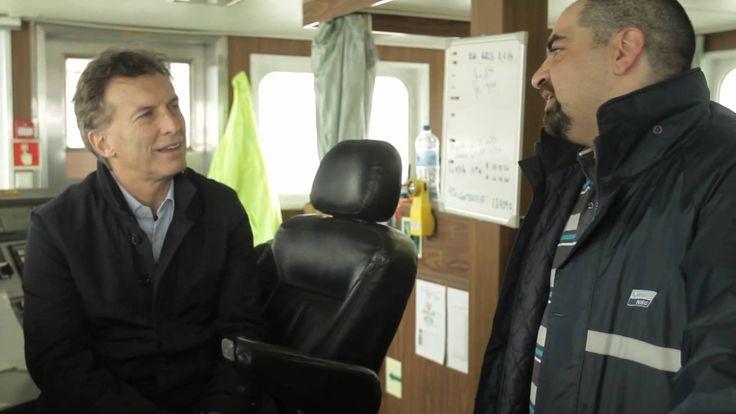 Conversando con el capitán Martín en Ushuaia