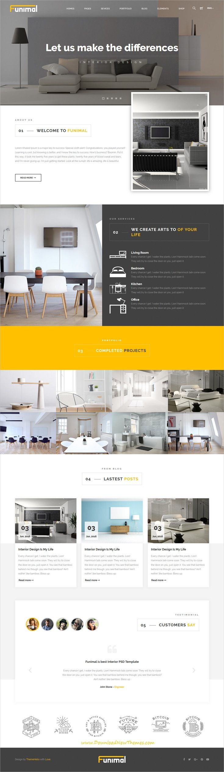 Funimal is clean and modern design responsive #HTML5 template for furniture and #interior shop eCommerce #website to live preview & download click on Visit