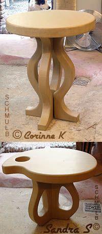 Pedestal Cardboard Table