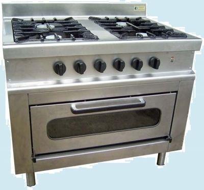 Cocina 4 quemadores con horno plancha grill - Cocinas con plancha incorporada ...