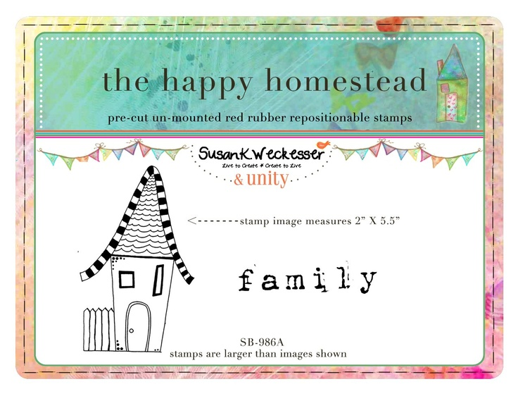 the happy homestead -  BRAND NEW by artist Susan Weckesser - Scrapbooking - Canvas Art - Mixed Media - SMASH books - EVERYTHING - enormous unique stamps at unity stamp company - available NOW!  http://www.unitystampco.com/shop/192-35-off-susan-weckesser.aspx