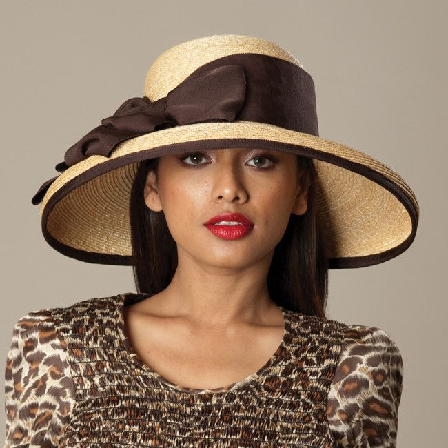 5136AMSB Amy, wheat w/ brown – Louise Green Millinery