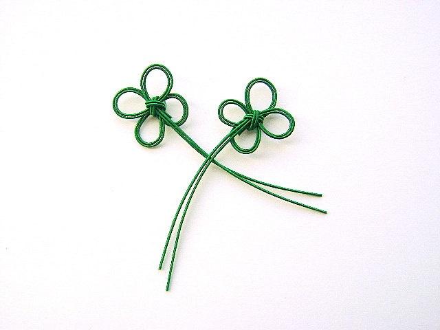 Mizuhiki cord 4 Leaf Clover