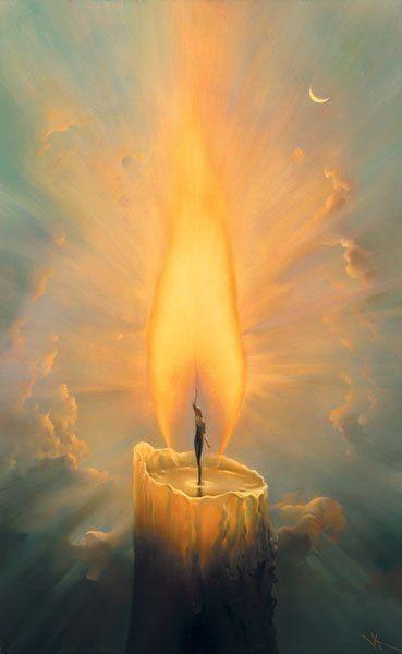 Candle, by Vladimir Kush.
