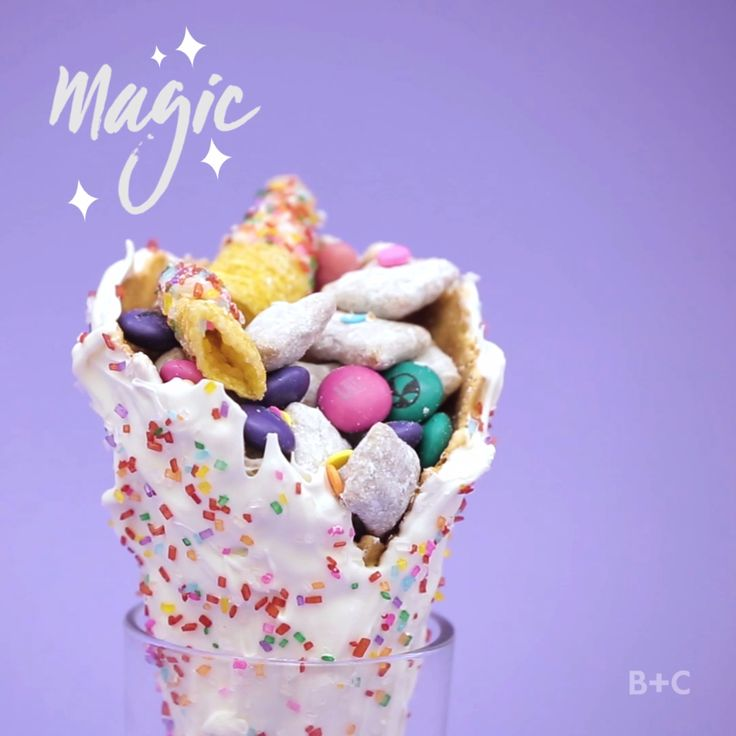 Watch this colorful and creative snack video recipe tutorial to learn how to make Unicorn Trail Mix.