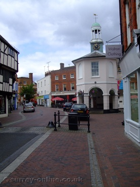Godalming-the Pepper Pot, at the end of the High Street. Lovely town on the River Wey.