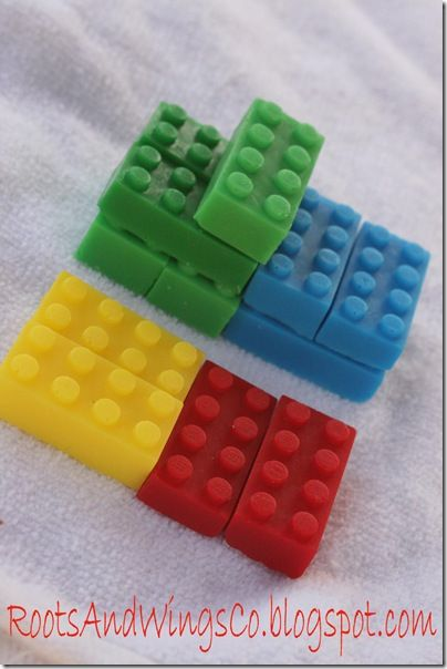 Lego Shaped Soap | TheWHOot