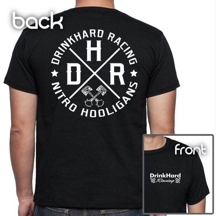 DrinkHard%20Racing%20Men's%20Nitro%20Hooligans%20T%20Shirt.%20100%%20Pre%20Shrunk%20Cotton%20Gildan%20Stock.%20Left%20front%20(Chest)%20DHR%20Race%20Day%20Logo%20Print%20with%20Nitro%20Hooligans%20Back%20Print.%20Perfect%20for%20Every%20Race%20Fan!%20Black%20Sizes%20S-3XL