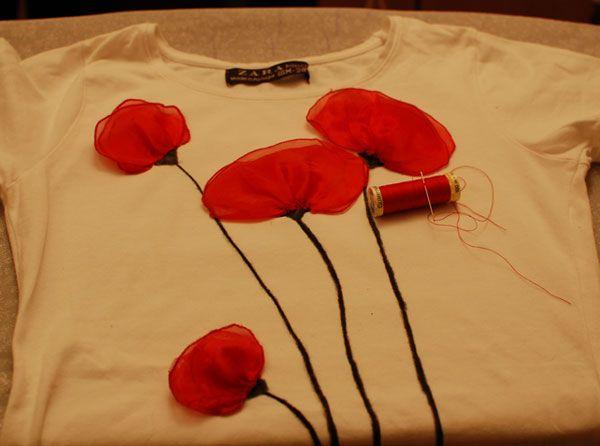 Flor de amapola para camiseta y demás