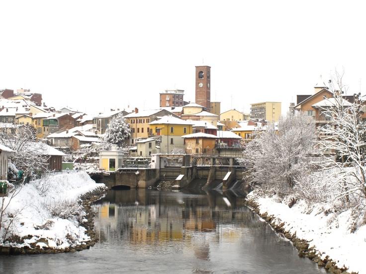 #Melegnano #neve #snow #river