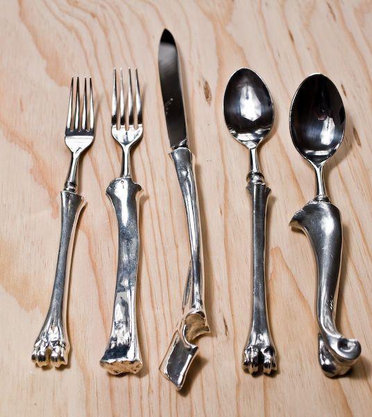 """Bone Cutlery"" by John Gerrard at 1stdibs"