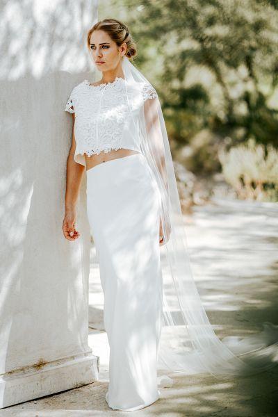 22 robes de mariée deux pièces 2017 parfaites pour un mariage civil ! Image: 5