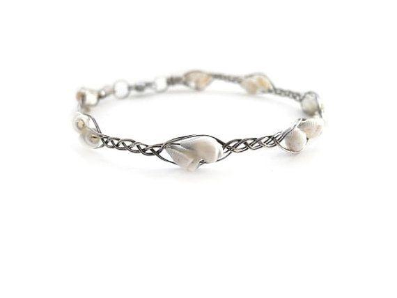 Silver bracelet braided bracelet wire by NurrgulaJewellery on Etsy