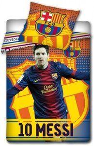 Dekbed barcelona Messi foto geel: 140x200/70x80 cm -DINQZ