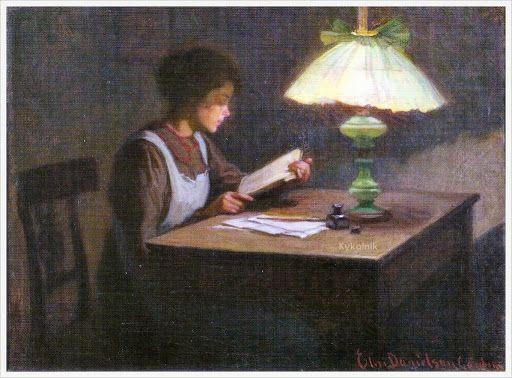 «Reading Lamp». Elin Kleopatra Danielson-Gambogi (Finnish, 1861-1919)