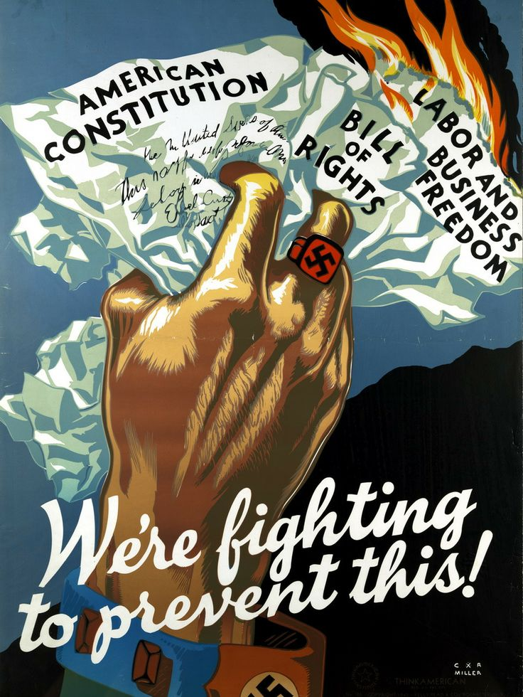 """""""We're fighting to prevent this!"""" ~ WWII propaganda poster."""