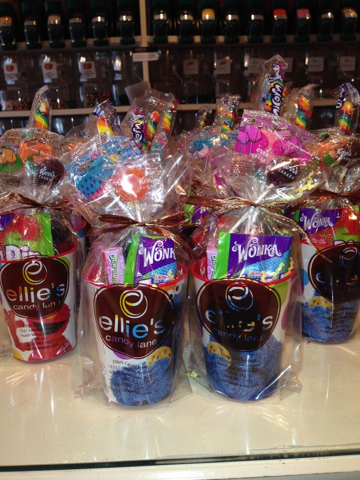 A cute goody bag possibility! You can choose whatever candy you may want to put inside.