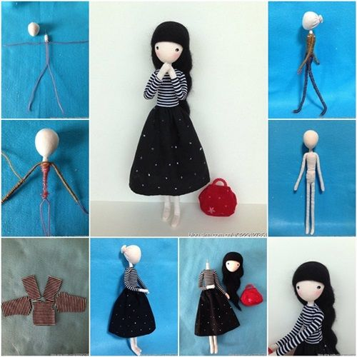 DIY Cute Mini Doll with Wire http://coolcreativity.com/handcraft/diy-cute-mini-doll-with-wire/