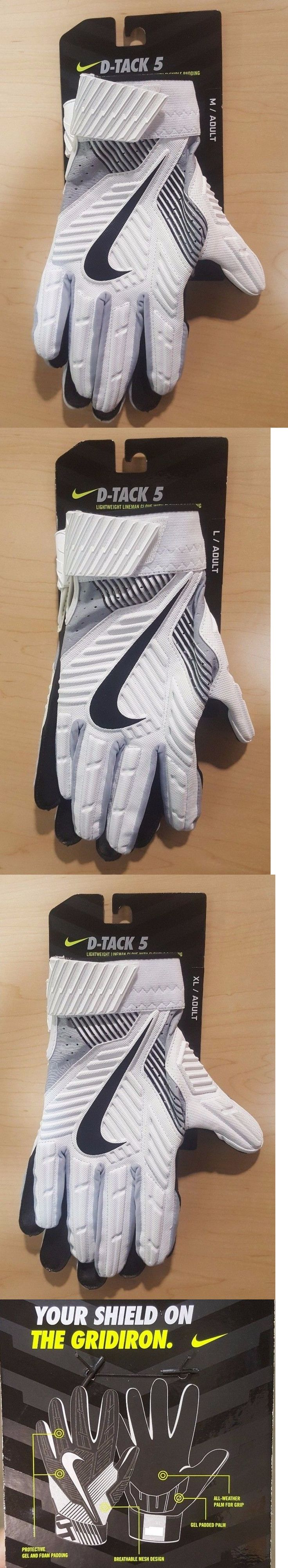 Gloves 159114: 2017 Nike Football D-Tack 5 Lineman Protective Gloves White Black Brand New -> BUY IT NOW ONLY: $64.99 on eBay!