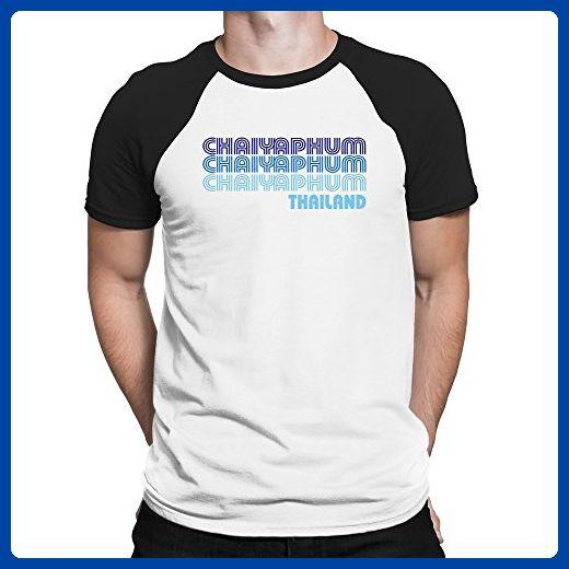 Teeburon Retro Color Chaiyaphum Raglan T-Shirt - Retro shirts (*Amazon Partner-Link)