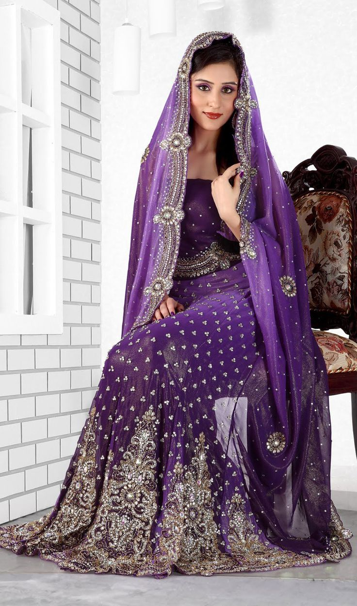 Purple Color Lengha Saree