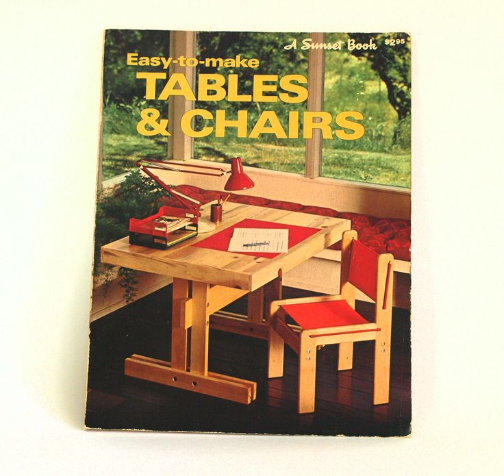 Sunset Easy to Make Tables & Chairs Book - 1979 Vintage Retro Interior Design Furniture Making - Modern Designs by FunkyKoala on Etsy